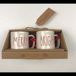 Rae Dunn Merry Bright Mug Christmas Ornaments NEW